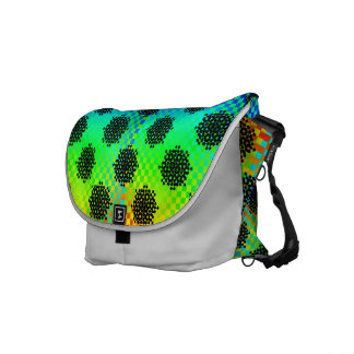Checkered Wheels Courier Bag