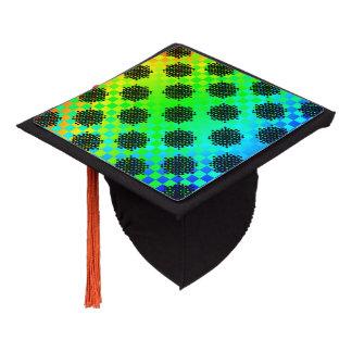Checkered Wheels Graduation Cap Topper