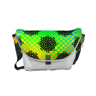 Checkered Wheels Small Messenger Bag