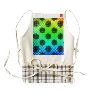 Checkered Wheels Zazzle HEART Apron