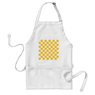 Checkered - White and Amber Adult Apron