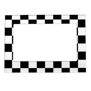 Checkered Black And White Picture Frames Zazzle