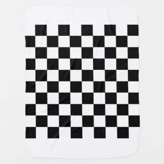 Checkered - White and Black Swaddle Blanket