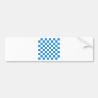 Checkered - White and Blue Bumper Sticker