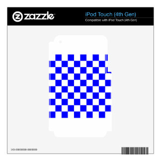 Checkered - White and Blue iPod Touch 4G Decals