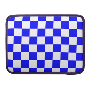 Checkered - White and Blue Sleeves For MacBooks