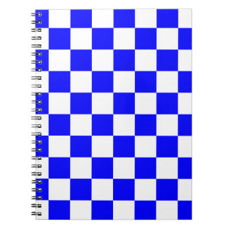 Checkered - White and Blue Note Book