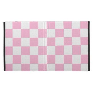 Checkered - White and Cotton Candy iPad Folio Case