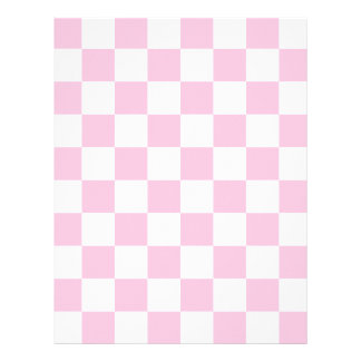 Checkered - White and Cotton Candy Letterhead