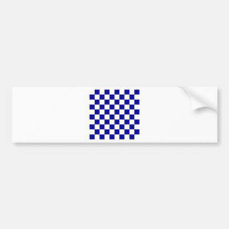 Checkered - White and Dark Blue Bumper Sticker