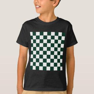 Checkered - White and Dark Green T-Shirt
