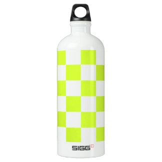 Checkered - White and Fluorescent Yellow SIGG Traveler 1.0L Water Bottle