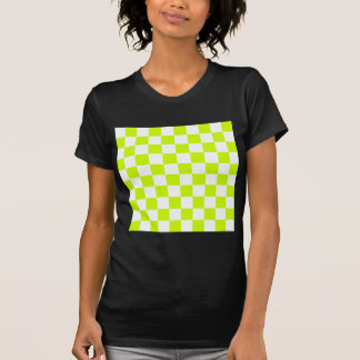 Checkered - White and Fluorescent Yellow Tees