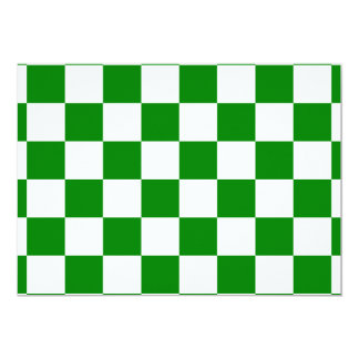 Checkered - White and Green Card