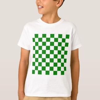 Checkered - White and Green T-Shirt
