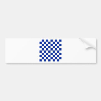 Checkered - White and Imperial Blue Bumper Sticker