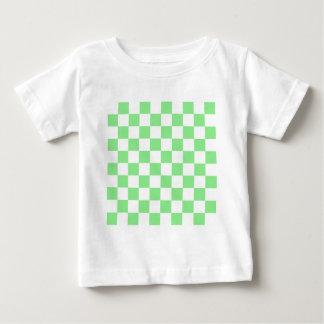 Checkered - White and Light Green Baby T-Shirt