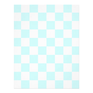 Checkered - White and Pale Blue Letterhead