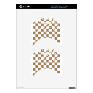 Checkered - White and Pale Brown Xbox 360 Controller Skins
