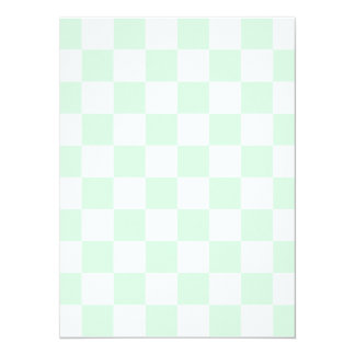 Checkered - White and Pastel Green 5.5x7.5 Paper Invitation Card