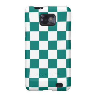 Checkered - White and Pine Green Galaxy SII Case