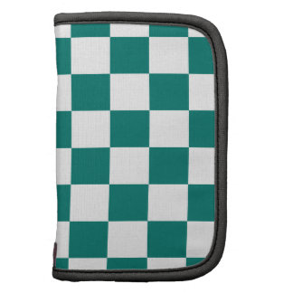 Checkered - White and Pine Green Planner