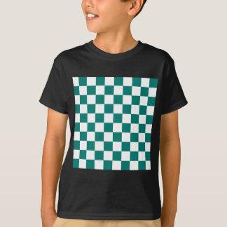 Checkered - White and Pine Green T-Shirt