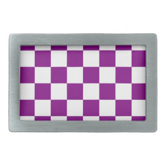 Checkered - White and Purple Belt Buckle