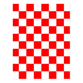 Checkered - White and Red Postcard