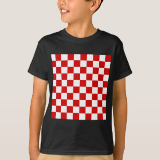 Checkered - White and Rosso Corsa T-Shirt