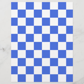 Checkered - White and Royal Blue