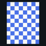 "Checkered - White and Royal Blue Letterhead<br><div class=""desc"">Together with stripes, polka dots, and chevrons, checkered designs are an evergreen pattern that doesn&#39;t lose its appeal over time. This cute royal blue and white checkered design goes well on any kind of product. In order to present you with maximum choice, the same checkered design is available in 127...</div>"
