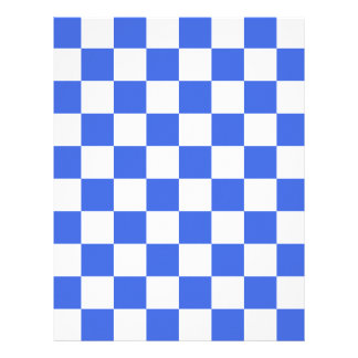 Checkered - White and Royal Blue Letterhead