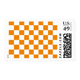 Checkered - White and Tangerine Postage
