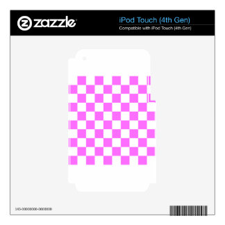 Checkered - White and Ultra Pink iPod Touch 4G Decal