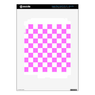 Checkered - White and Ultra Pink Decals For iPad 3