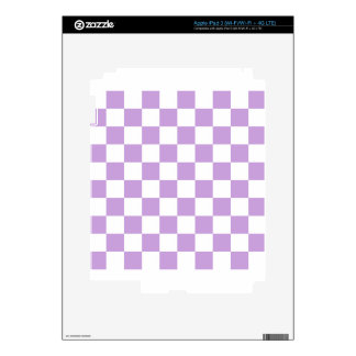 Checkered - White and Wisteria iPad 3 Decals