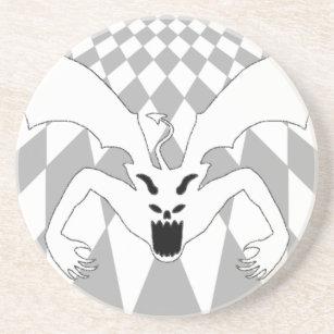 white checkered drink beverage coasters zazzle Checkerboard Floor Color checkered white devil sandstone coaster