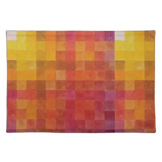 Checkered Yellow and Red Placemats