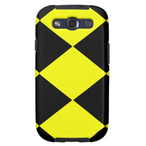 Checkered (Yellow & Black) Samsung Galaxy SIII Case