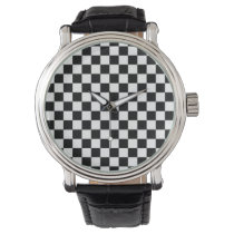 Checkeredboard Pattern Wrist Watch