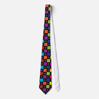 Checkers and Stars Neck Tie