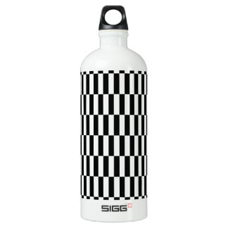 Checkers Black and White Water Bottle
