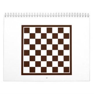 Checkers board calendar