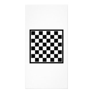 Checkers board photo card