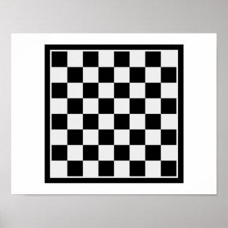 Checkers board poster