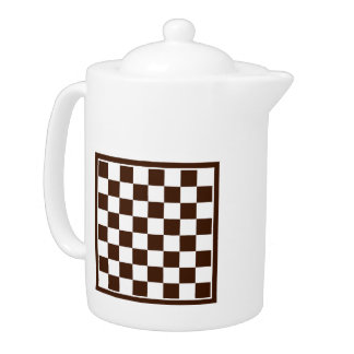 Checkers board teapot
