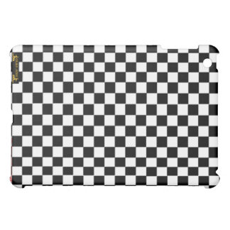 Checkers chess board games hobby black & white iPad mini covers