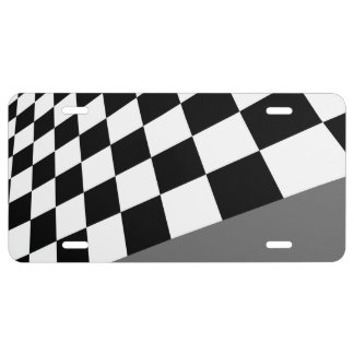 Checkers...Choose your own colors. License Plate