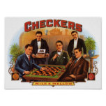 Checkers Cigar Label Print